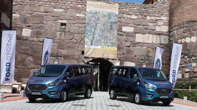 turkiyenin ankara pertama dan satu-satunya perjalanan ke kastil dengan kendaraan hibrida lokal