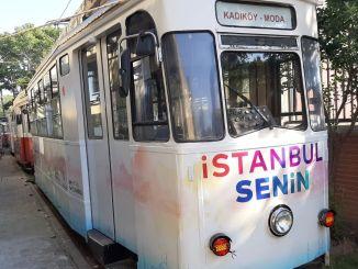 renewed fashion tram meets Istanbulites