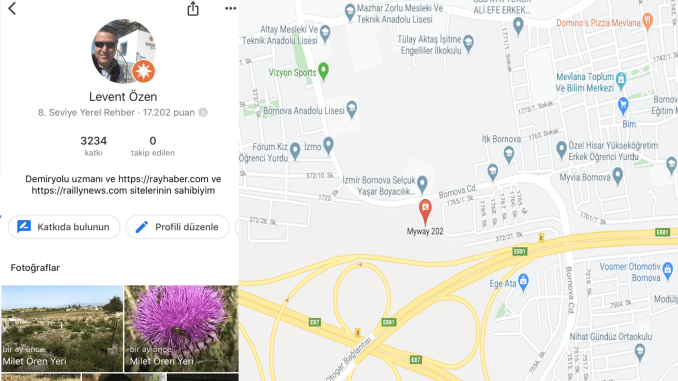 Google maps profile follow