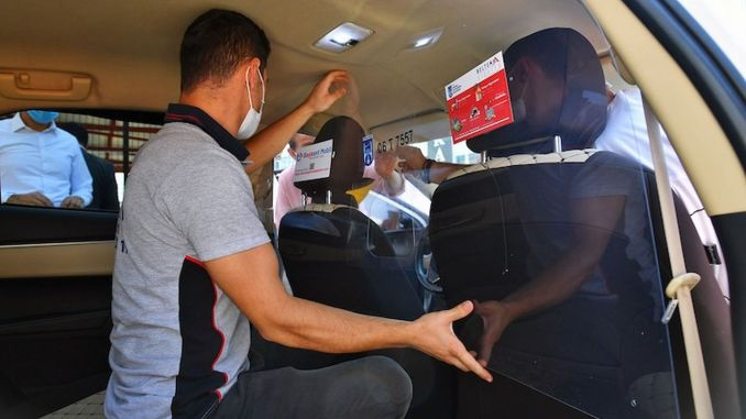Taxis in Ankara become safe with transparent panels