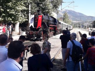 The steamy black train that brought ataturku to pozanti a year ago