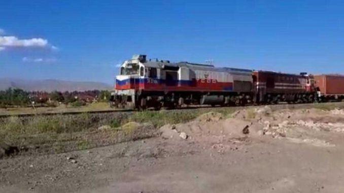Blockzug ab dem Zug ist in Izmit
