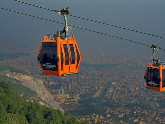 Daily maintenance break on the Denizli cable car line