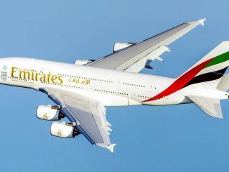 Emirates memulai penerbangannya ke Guangzhou dengan flagship a