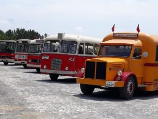 iett nostalgic buses on display in the Kemerburgaz city forest