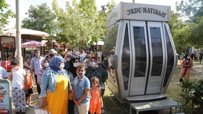 army boztepe cable car carried one thousand passengers on feast