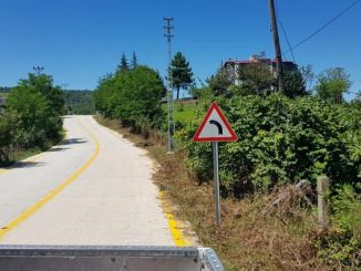 Road line work for safe transportation in Samsun