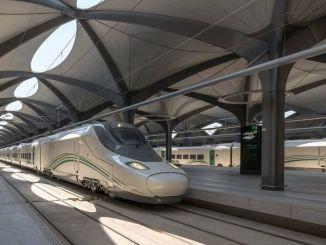 пожар на жељезничкој станици велике брзине харамеин у Саудијској