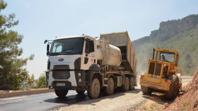 Group roads are paved in Tarsus