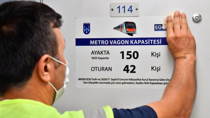 Passenger Capacity Labels are Placed on Public Transport Vehicles in Ankara