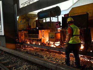 بدأت أعمال طحن السكك الحديدية من أجل السلامة والراحة في أنقرة