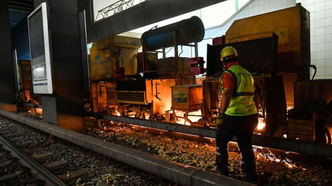 Rail Grinding Work Started for Safety and Comfort in ANKARAY