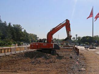 עבודות מערכת הרכבת השלבים של אנטליה הגיעו לרחוב קוניאלטי