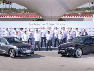 Bayern München nutzt elektrischen Audi