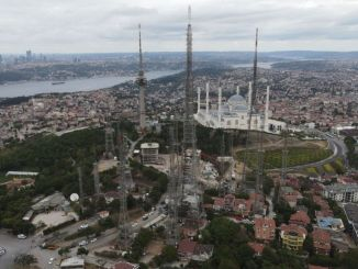 Old Antennas on Camlica Hill Are Being Removed
