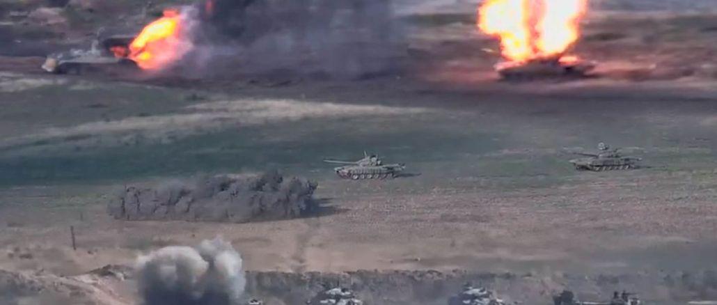 Ermenistan, Azerbaycan'a Ait Tankların Vurulduğu Görüntüleri Paylaştı
