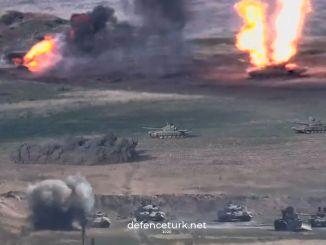 Ermənistan Azərbaycana məxsus tankların vurulduğu görüntüləri paylaşır