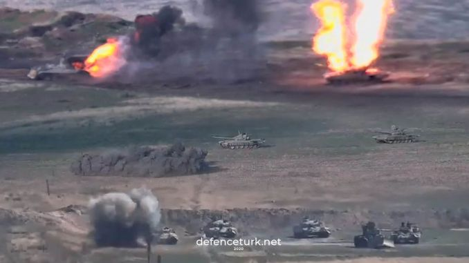 Armenia Shares Images Where Tanks Belonging to Azerbaijan Have Been Hit