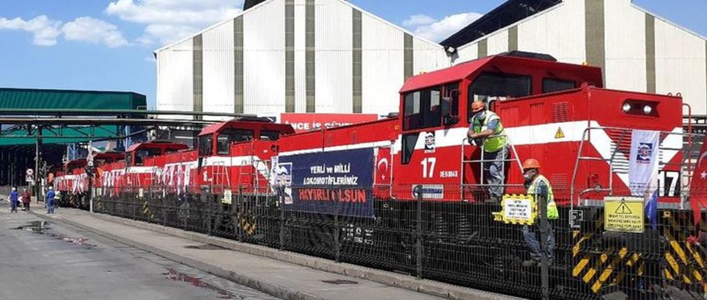 KARDEMİR-Lokomotiven mit TÜBİTAK RUTE Design Traktionssystemen