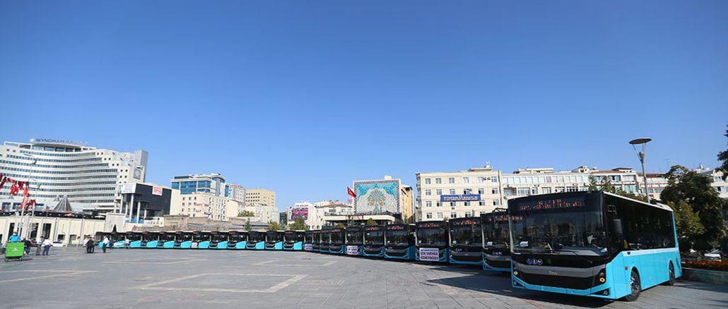 Kayseri'nin Ulaşım Filosuna 24 Yeni Otobüs Katıldı