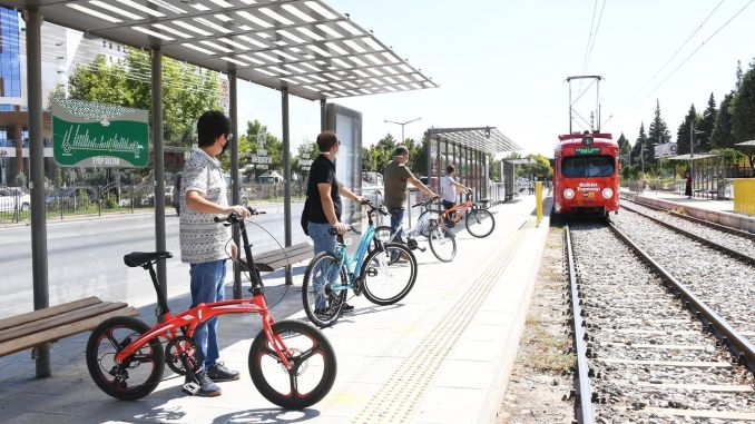 The Period of Bicycle Tram and Bus with Bicycle Apparatus Starts in Konya