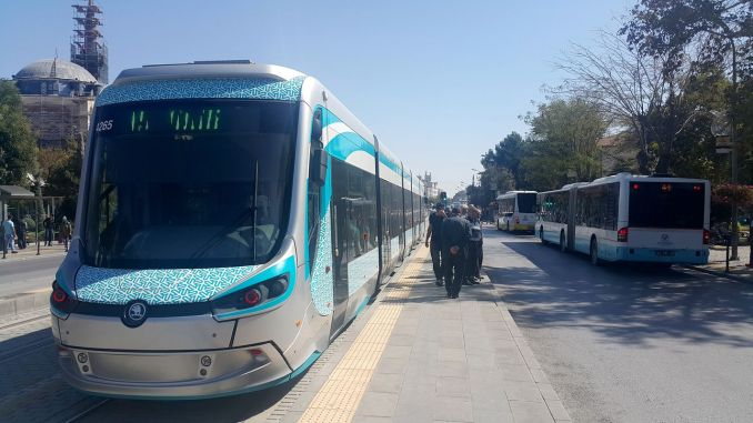 Bus Station Campus Tram Flights in Konya Stops for a Short Time!