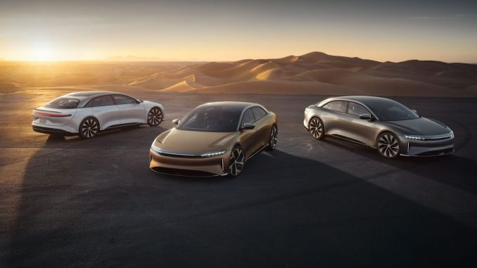 Gipaila ang Lucid Motors Electric Car Air