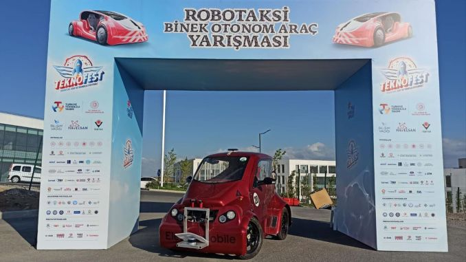 Award from Teknofest to the electromobile named Alatay, developed by the students