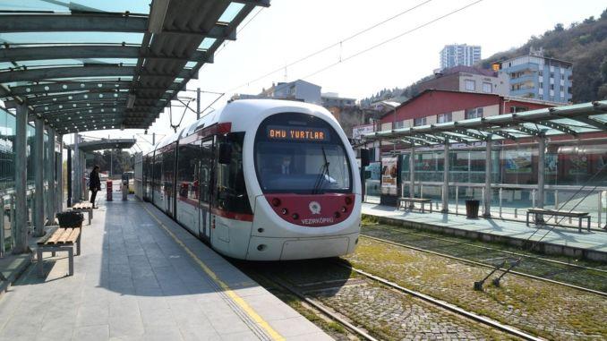 Интервалы поездок на трамвае в Самсун сокращены до 5 минут