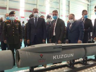 Se muestra la munición común modular Kuzgun desarrollada por TÜBİTAK SAGE