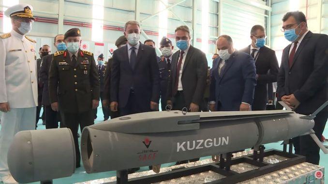 Kuzgun Modular Joint Munition Entwickelt von TÜBİTAK SAGE Displayed