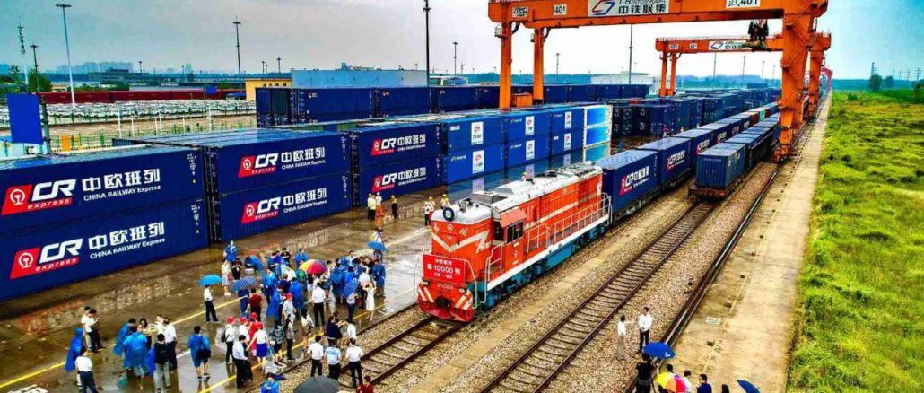中国からヨーロッパへの貨物列車の数は3を超えます