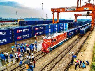 從中國到歐洲的貨運列車數量超過3