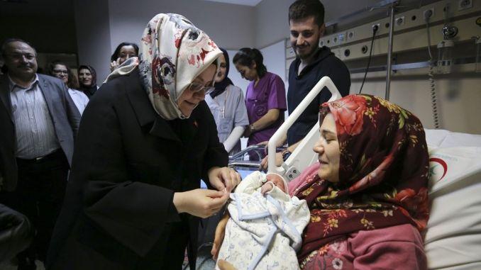 На сьогоднішній день 83 млн. TL допомоги по вагітності та пологах буде надано 36,7 тис. Матерям