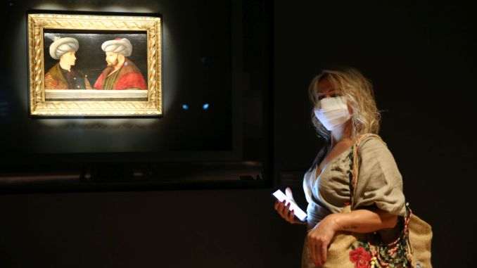 افتتاح لوحة عمرها 540 عاما لفاتح سلطان محمد