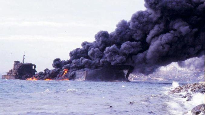 Independenta Tanker Accident, Burning for 27 Days in Bosphorus