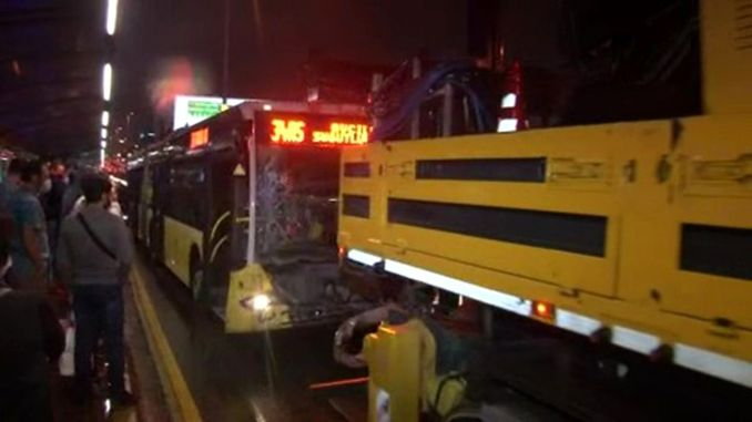 Metrobus Accident in Merter: 7 People Injured