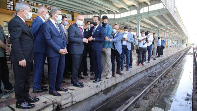 Die Schienen zwischen dem Bahnhof Malatya und Yeşiltepe werden unter die Erde gebracht