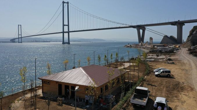 Osmangazi Bridge Scenic Coastal Park Is Shaping
