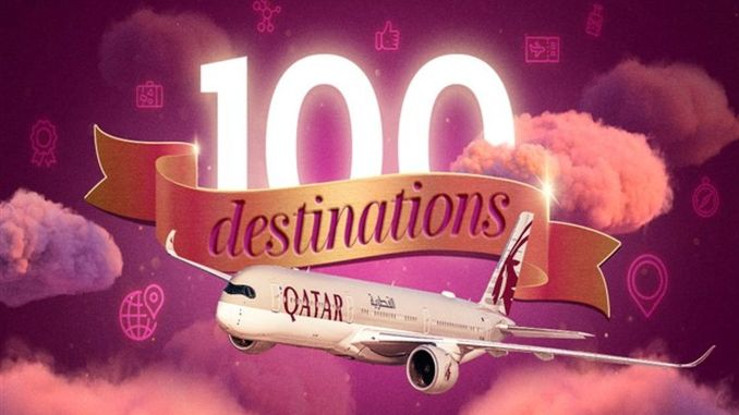 Qatar Airways Increases Flight Network to 100 Destinations