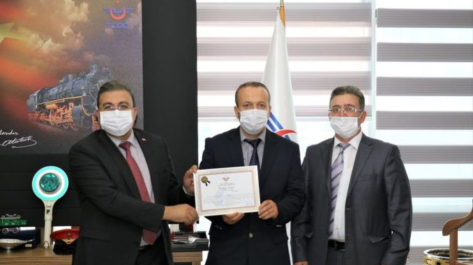 TCDD Awarded the Attentive Personnel with a Certificate of Appreciation