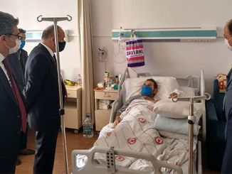 TCDD Tasimacilik General Manager Yazıcı Visited the Injured Machinists
