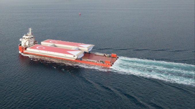 Canakkale桥面甲板到达Gelibolu
