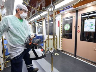 Disinfection Campaign in Public Transportation from Izmir