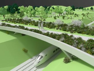 Making an ecological bridge for animal crossing on the Ankara eskisehir yht line