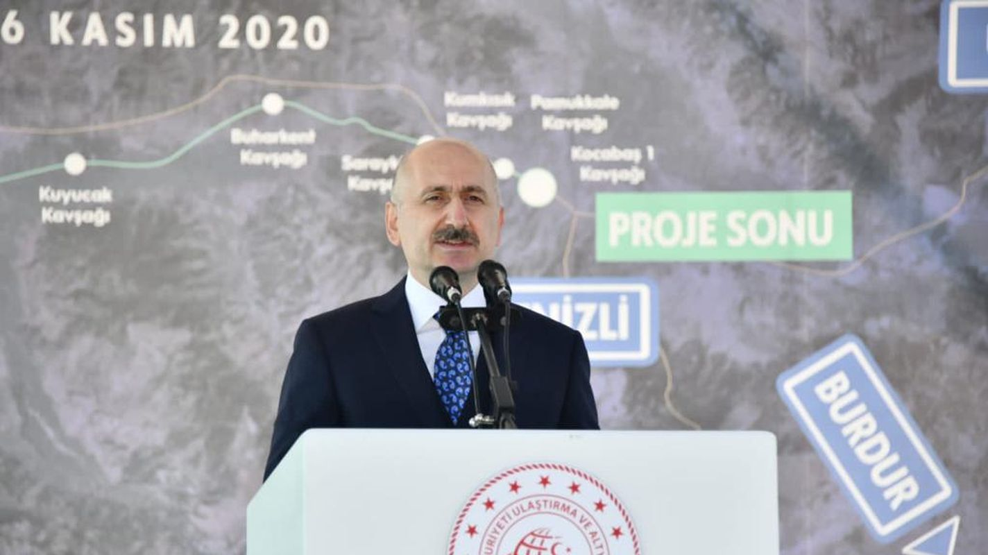 aydin denizli highway will reduce travel time to even minutes