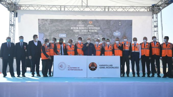 The foundations of the aydin denizli highway were laid