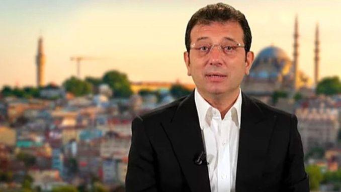 Der Präsident Imamoglu gab das Zeugnis von Channel Istanbul