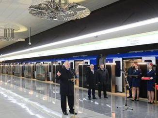 Stasiun kereta bawah tanah minsk belarus yang baru dibangun dibuka