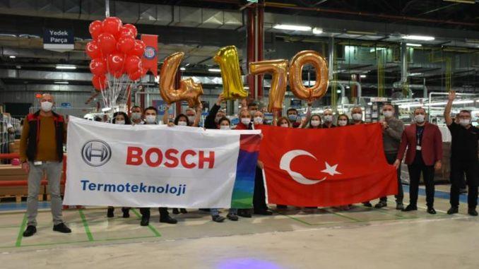 रोज कॉम्बी बॉयलर उत्पादन में बॉश थर्मोटेक्निकल सेट रिकॉर्ड करता है